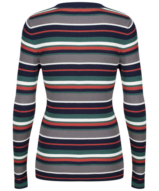 Women's Lily & Me Striped Crew Neck Jumper - Navy