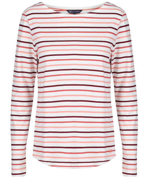 Women's Crew Clothing Essential Breton L/S Top - White Multi