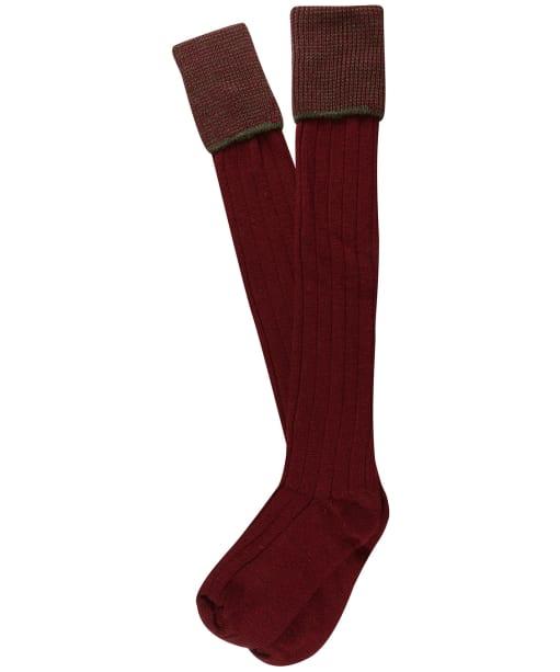 Men's Pennine Chiltern Shooting Socks - Burgundy