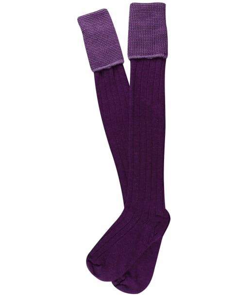 Men's Pennine Chiltern Shooting Socks - Purple