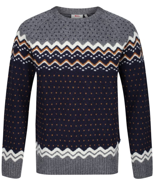 Men's Fjallraven Ovik Knit Sweater - Dark Navy