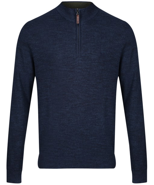 Men's Crew Clothing Chesil Half Zip Sweater - Denim