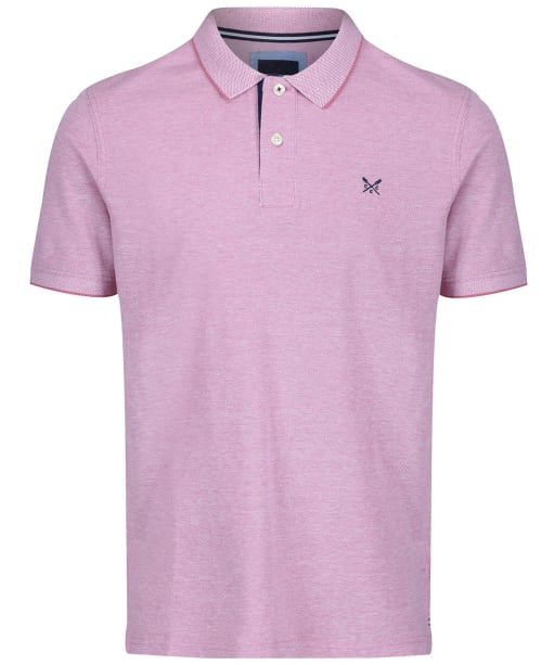 Men's Crew Clothing Oxford Tipped Polo Shirt - Magenta / White