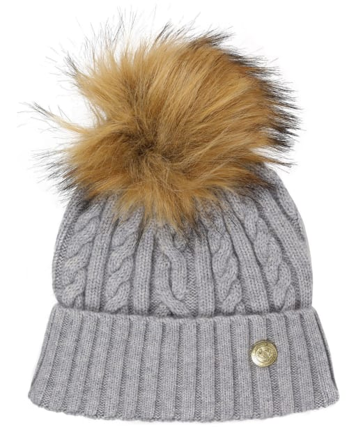 Women's Holland Cooper Cashmere Knitted Bobble Hat - Grey Marl