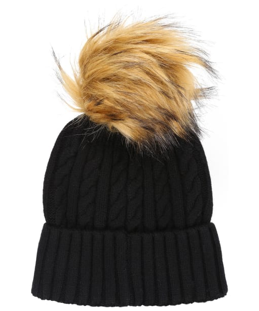 Women's Holland Cooper Cashmere Knitted Bobble Hat - Black