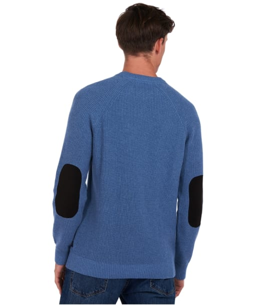 Men's Barbour x National Trust Portness Sweater - Washed Blue