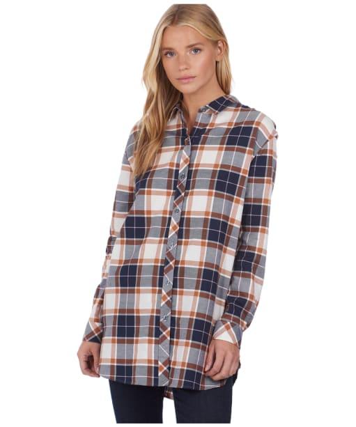 Women's Barbour x National Trust Rowland Shirt - Navy