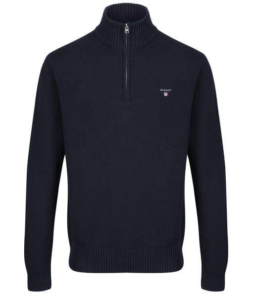 Men's GANT Casual Half Zip Sweater - Evening Blue
