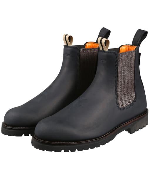 Women's Penelope Chilvers Oscar Leather Boot - Black / Gunmetal