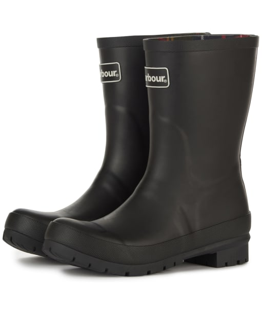 Women's Barbour Banbury Mid Wellington Boots - Black