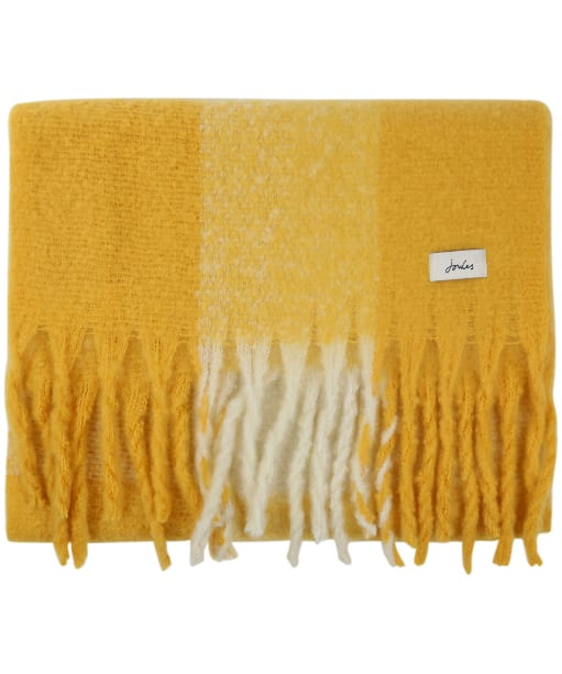 Women's Joules Lin Scarf - Yellow / White Check