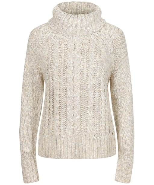 Women's Joules Carmella Knitted Cable Jumper - Oat