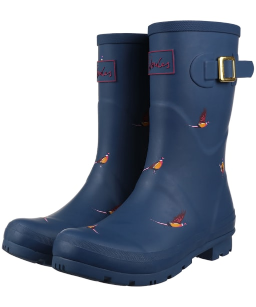 Women's Joules Molly Mid Height Wellies - Teal Pheasant