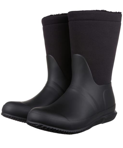 Women's Hunter Original Roll Top Sherpa Boots - Black