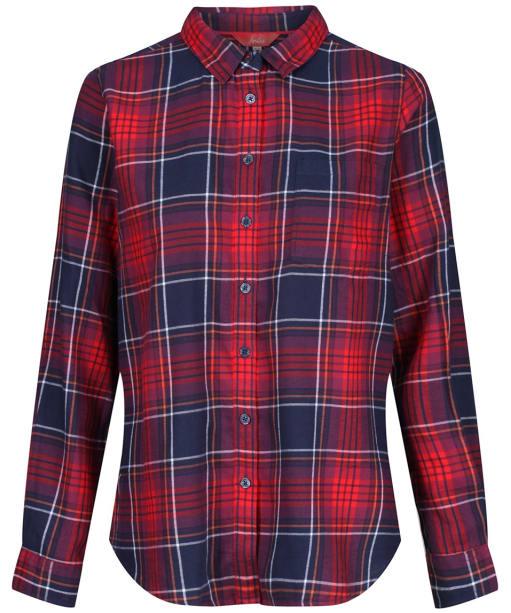 Women's Joules Lorena Check Shirt - Navy / Red Check