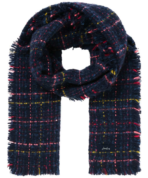 Women's Joules Karrie Scarf - Blue / Pink Check