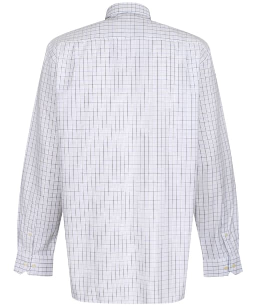 Men's Schoffel Burnham Tattersall Shirt - Blue / Olive Check