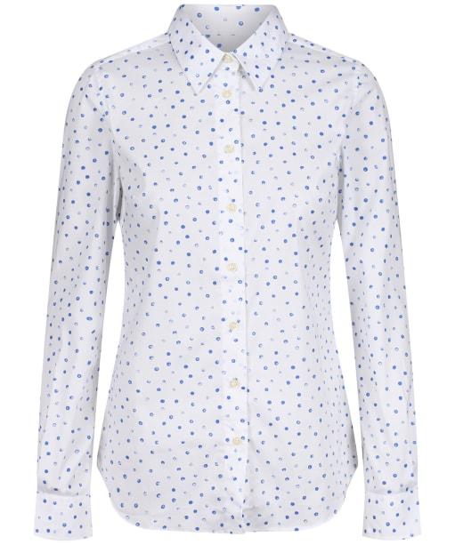 Women's Schoffel Norfolk Shirt - COBALT BLOT