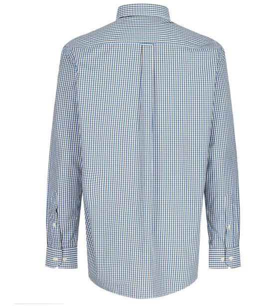 Men's Schoffel Hebden Tailored Shirt - Sea Blue / Olive
