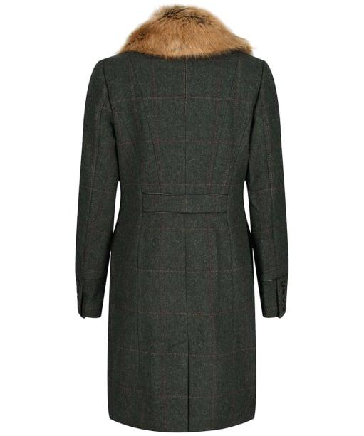 Women's Joules Langley Tweed Coat - Dark Green Tweed