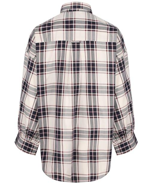 Women's GANT Oversized Tech Prep Plaid Oxford Shirt - Putty