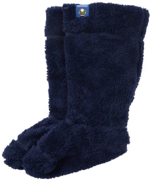 Children's Barbour Father Christmas Wellington Boot Socks - Navy