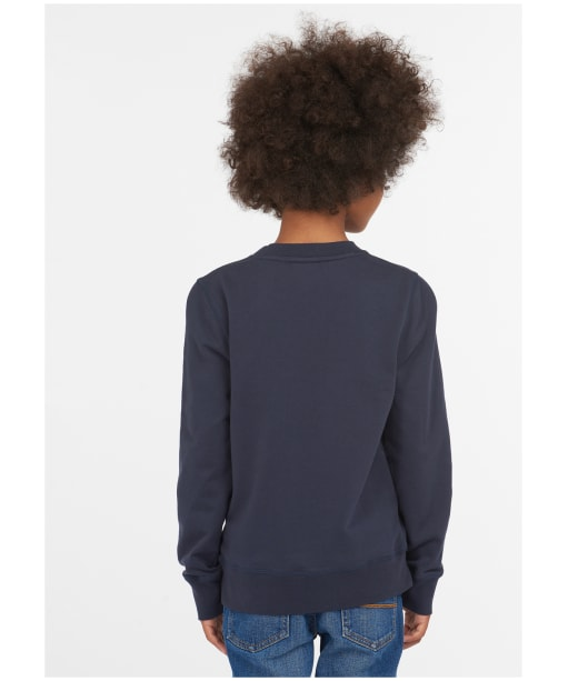 Boy's Barbour Father Christmas Alder Sweat - Navy