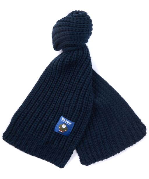 Xmas Kids Knit Scarf - Navy