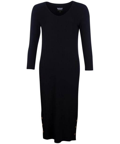Women's Barbour International Burnout Dress - Black