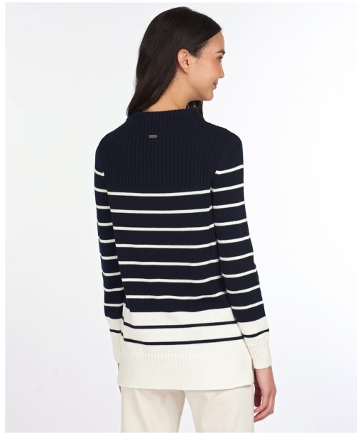 Women's Barbour Stripe Guernsey Knit Sweater - Navy / Off White