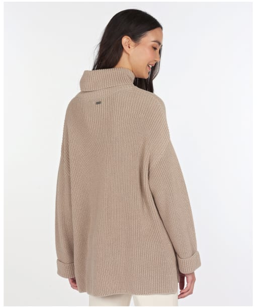 Women's Barbour Stitch Cape - Light Zinc