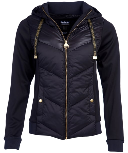 Women's Barbour International Roe Sweatshirt - Black