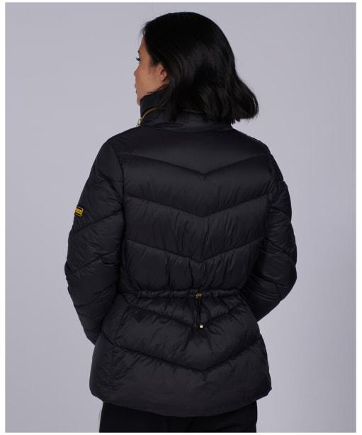 Women's Barbour International Parson Quilted Jacket - Black
