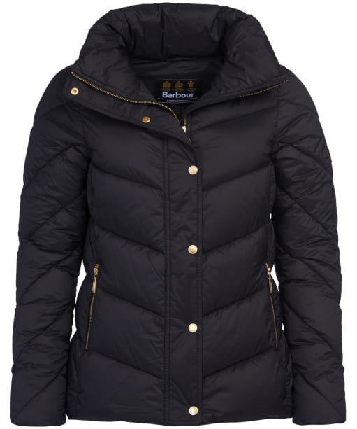 Women's Barbour International Parson Quilted Jacket - Black