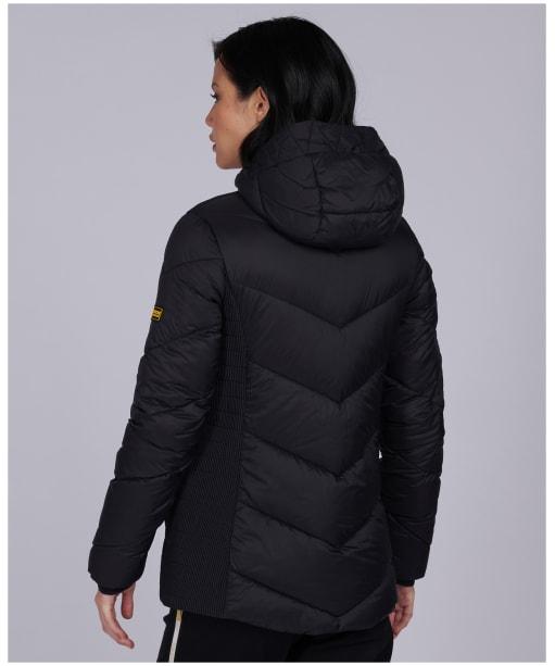 Women's Barbour International Miller Quilted Jacket - Black