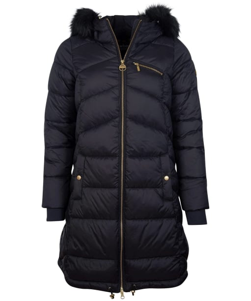 Women's Barbour International Veith Quilted Jacket - Black