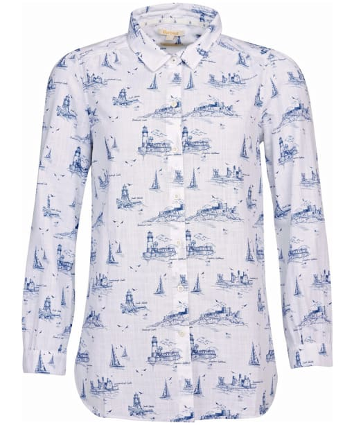 Women's Barbour Seagrass Shirt - Cloud Print