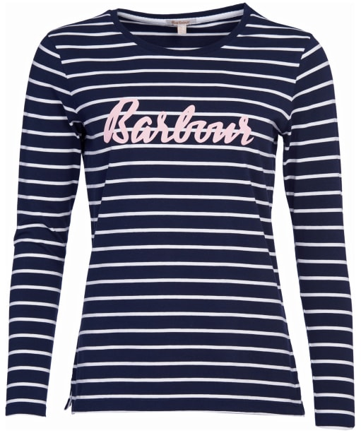 Women's Barbour Kielder Tee - Navy