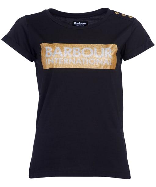 Women's Barbour International Burnout Tee - Black