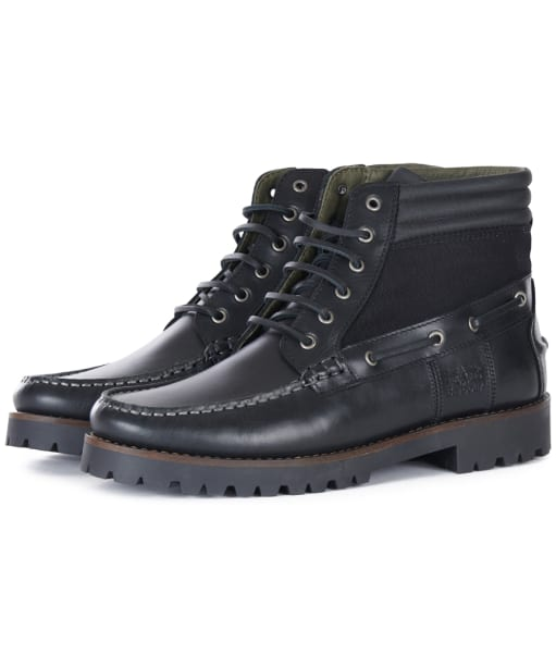 Men's Barbour Port Boots - Black