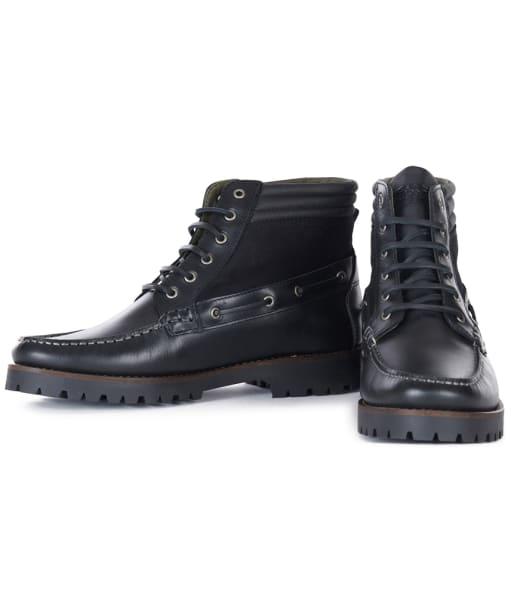 Men's Barbour Port Boots - Black