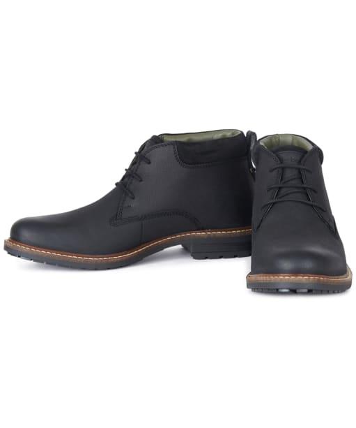 Men's Barbour Barnard Waterproof Chukka Boots - Black