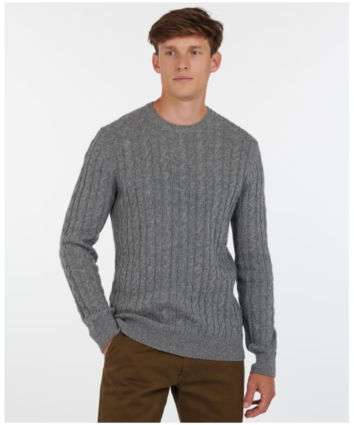 Men's Barbour Sanda Crew Knit - Grey Marl