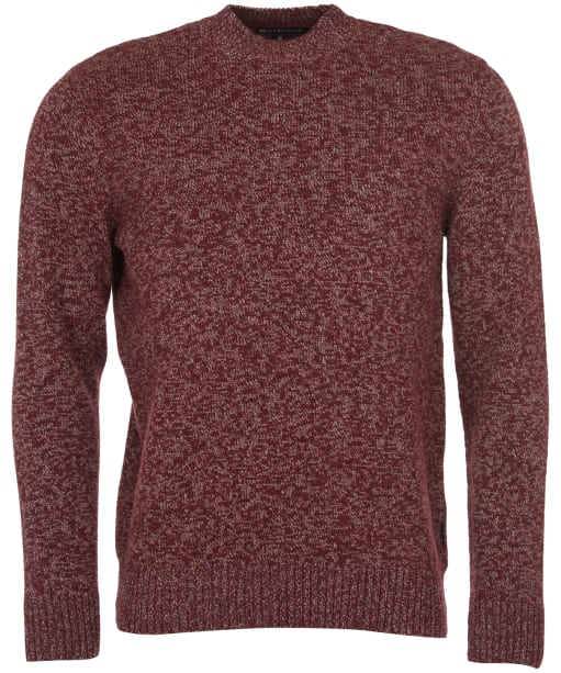 Men's Barbour Sid Crew Sweater - Crimson Marl