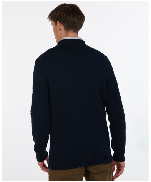 Men's Barbour Fisher Knit Sweater - Navy