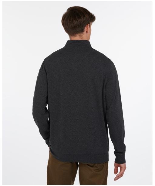 Men's Barbour Batten Half Zip Sweater - Charcoal Marl