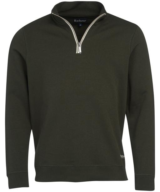 Men's Barbour Lockley Half Zip Sweater - Forest