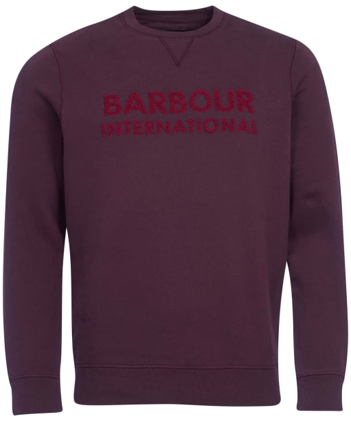 Men's Barbour International Dyno Sweater - Dark Burgundy