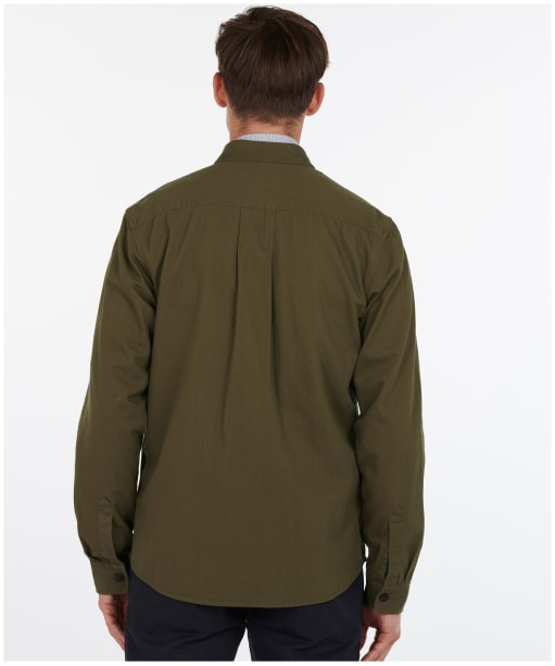 Men's Barbour Moorhouse Overshirt - Olive