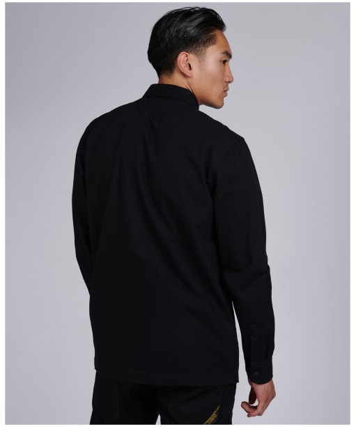 Men's Barbour International Patch Overshirt - Black
